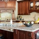 Standard mass produced kitchen cabinets